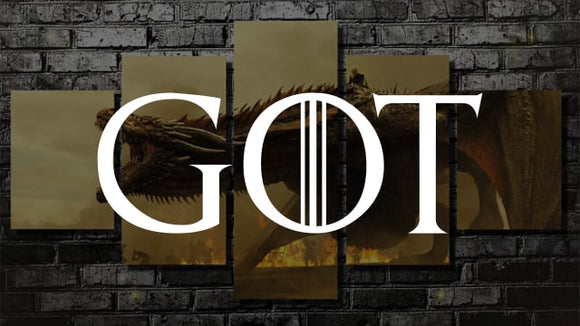 Game of Thrones Canvas Wall Art [Free Shipping] + (60% OFF)