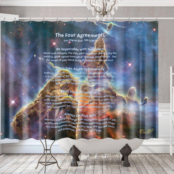 Hubble Space, 4 Aggreements -Shower Curtain
