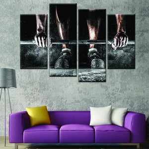 Deadlift 4 Piece Wall Canvas Art