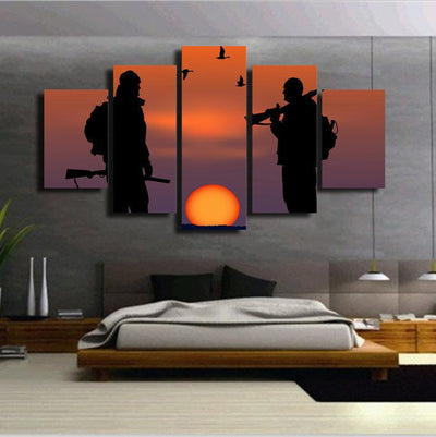 Bird Hunter Silhouette Art
