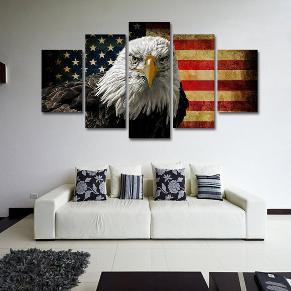 America Freedom 5 Piece Canvas Wall Art
