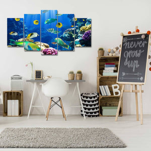 Going Underwater 5 Piece Canvas Wall Art