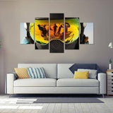 Snowboard Reflection 5 Piece Canvas Wall Art