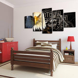 America Rider 5 Piece Canvas Wall Art