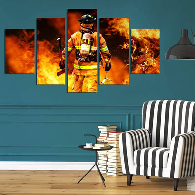 Brave Firefighter Art