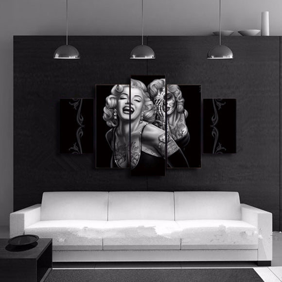 Marilyn Monroe 5 Piece Canvas Wall Art