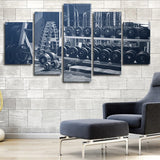 Pumping Iron 5 Piece Canvas Wall Art