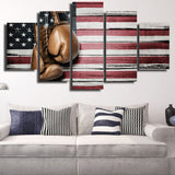 Boxing American Pride 5 Piece Canvas Wall Art
