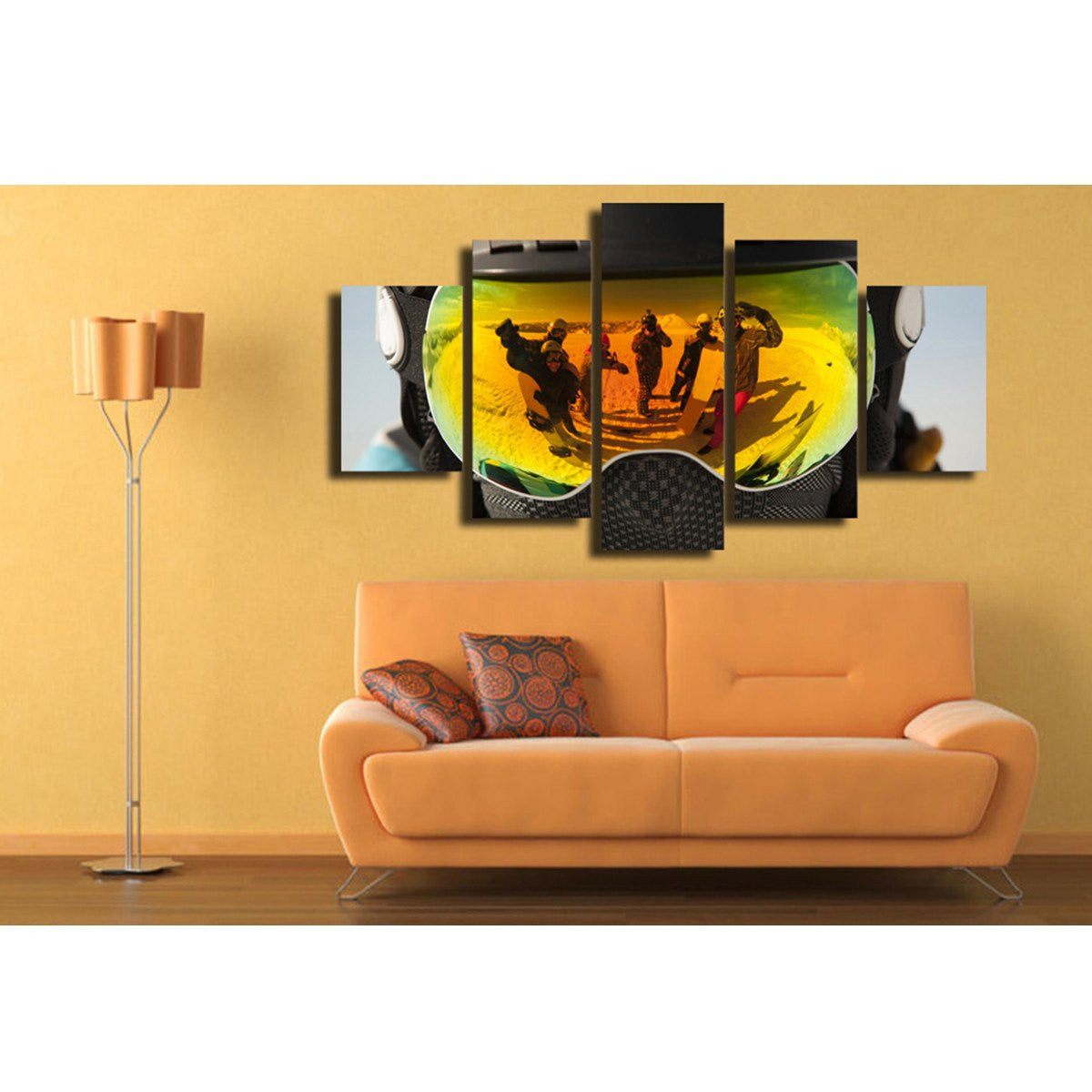 5 Piece Canvas Art - Snowboard Reflection [30% Off!] - Vigor and Whim