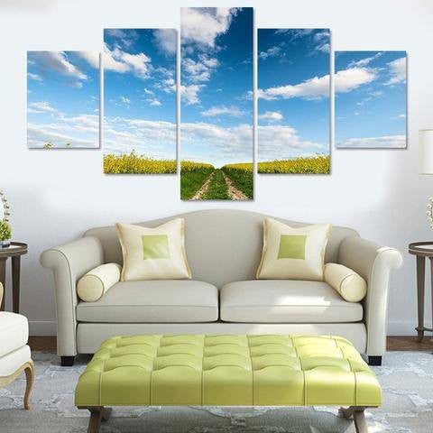 Field 5 Piece Wall Canvas Art