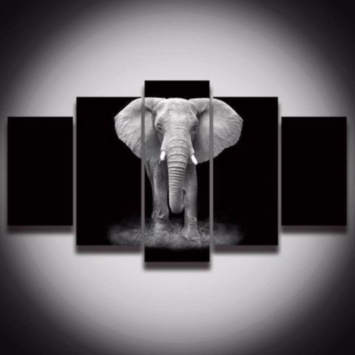 African elephant 5 piece wall canvas art vigor and whim african elephant 5 piece wall canvas art amipublicfo Image collections