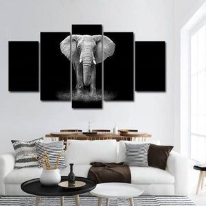 African Elephant 5 Piece Wall Canvas Art