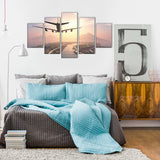 Aircraft Approach 5 Piece Canvas Wall Art