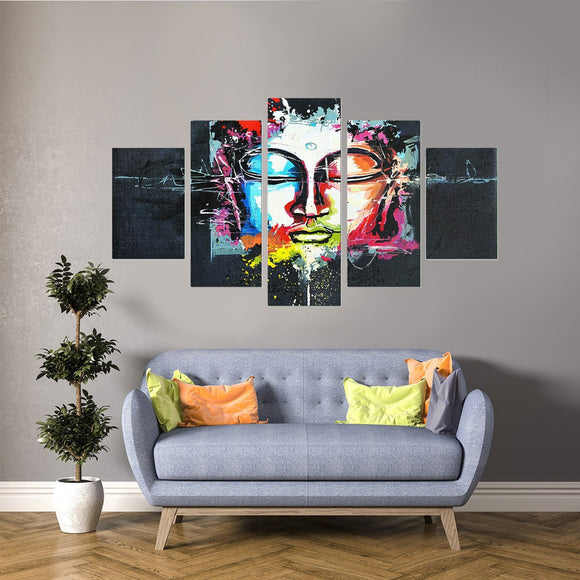 Artsy Buddha 5 Piece Canvas Wall Art