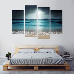Alluring Beach 4 Piece Canvas Wall Art