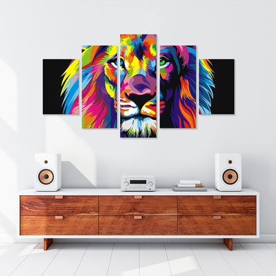 Artistic Lion's Head Art