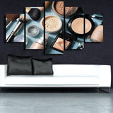 Makeup 5 Piece Wall Canvas Art