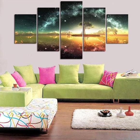 Celestial Tree 5 Piece Wall Canvas Art