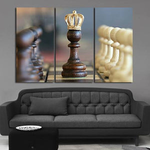 Chess 3 Piece Wall Canvas Art