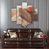 Chocolate Cake 5 Piece Canvas Wall Art