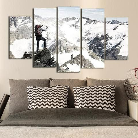 Mountain Climber 5 Piece Wall Canvas Art