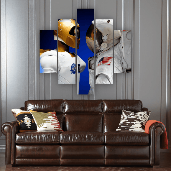 Cosmonaut 5 Piece Canvas Wall Art