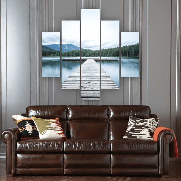 Forest Dock 5 Piece Canvas Wall Art