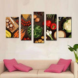 Fresh Produce 5 Piece Wall Canvas Art