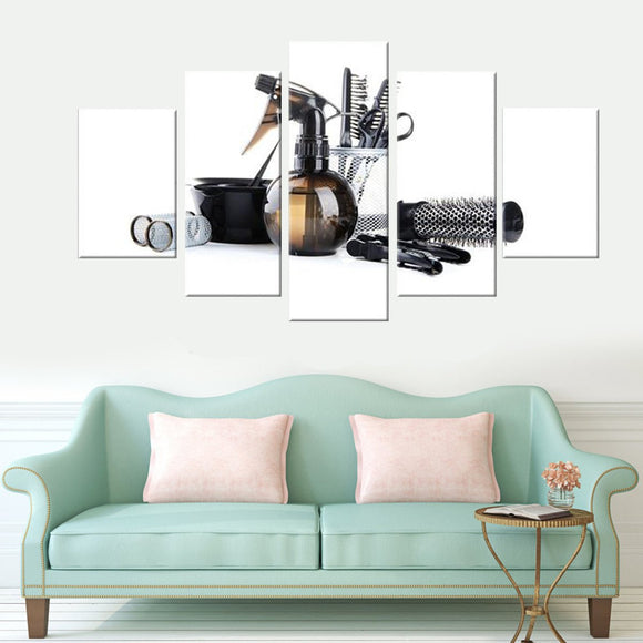 Hair and More 5 Piece Canvas Wall Art