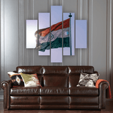 Indian Flag 5 Piece Canvas Wall Art