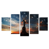 Liberty State Statue 5 Piece Canvas Wall Art
