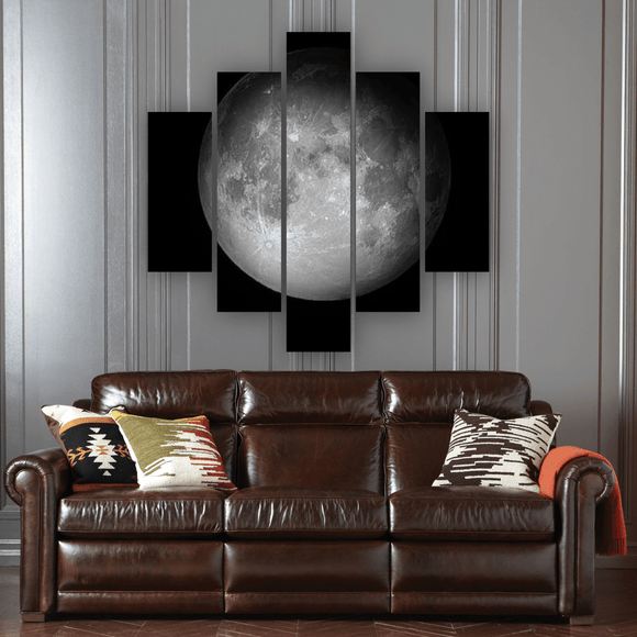 Moon 5 Piece Canvas Wall Art
