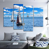 Sailing 4 Piece Wall Canvas Art