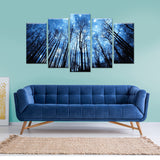 Foresty Skies 5 Piece Canvas Wall Art
