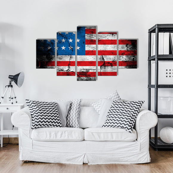 Bold America 5 Piece Canvas Wall Art