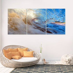 Riding the Wave 3 Piece Canvas Wall Art