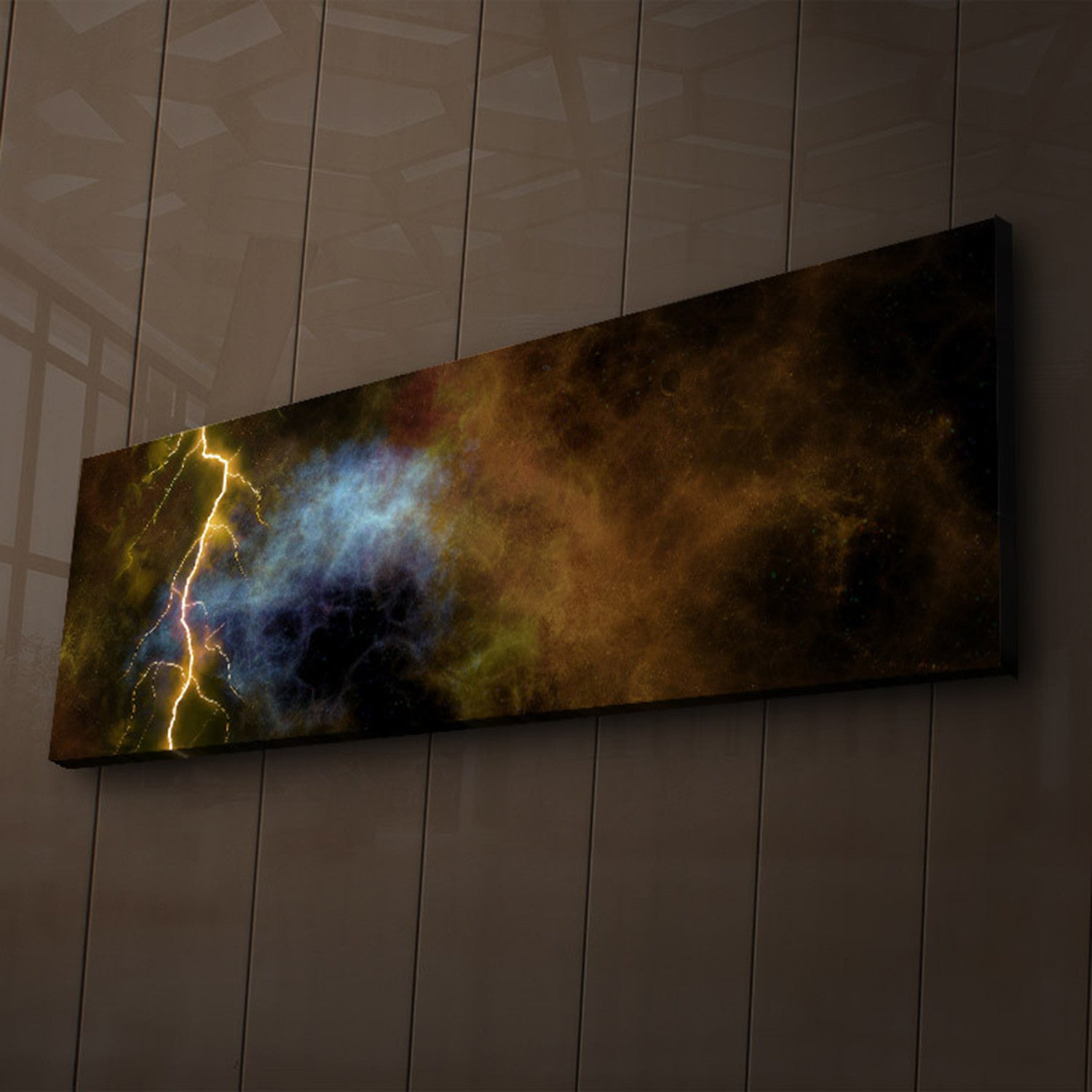 Stormy Lightning Bolt LED Light Up Canvas Wall Art - Vigor and Whim