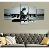 F16 Fighting Falcon Front View 5 Piece Canvas Wall Art