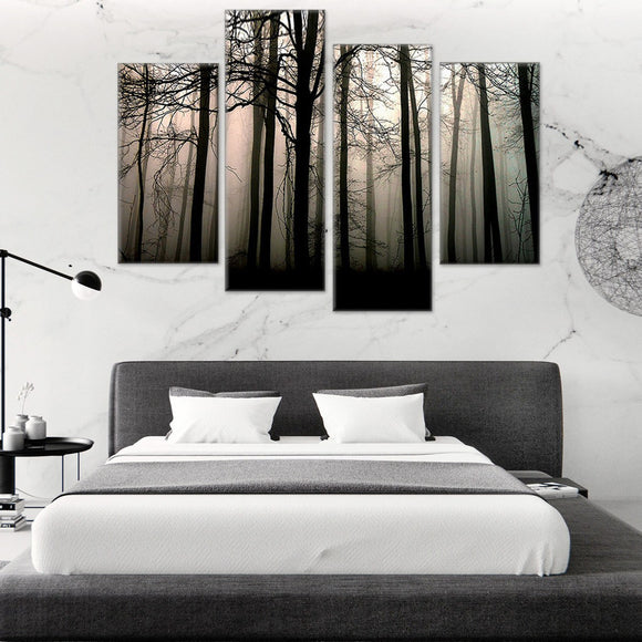 Foresty Fog 4 Piece Canvas Wall Art