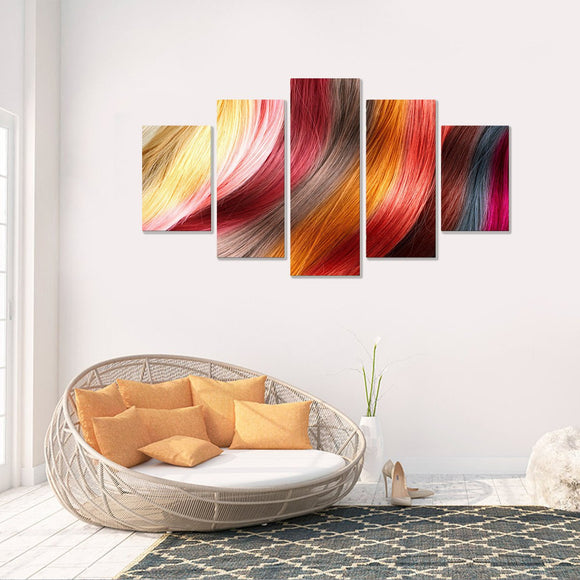 Hair Stylist Lover 5 Piece Canvas Wall Art