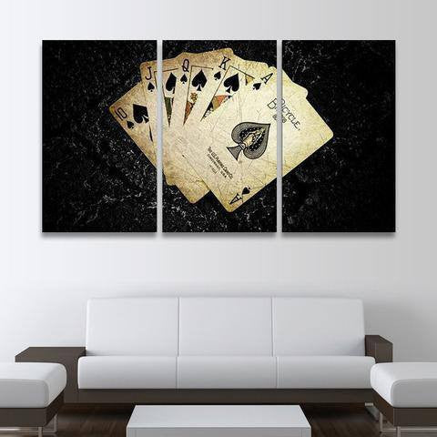 Poker 3 Piece Wall Canvas Art