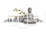 Stone Buddha 5 Piece Canvas Wall Art