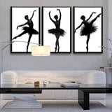 Ballet 3 Piece Wall Canvas Art