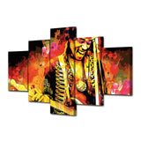 Jimi Hendrix 5 Piece Canvas