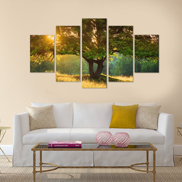 Sweet Trees 5 Piece Canvas Wall Art