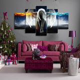 Angel Power 5 Piece Canvas Wall Art