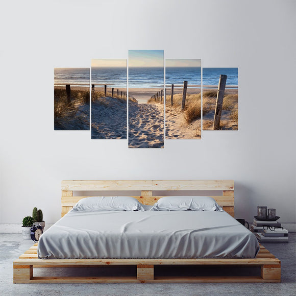 Headed to the Beach 5 Piece Canvas Wall Art
