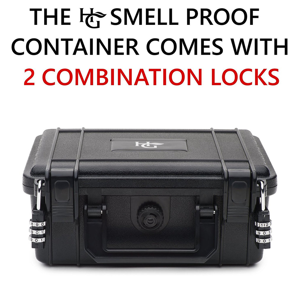 Smell Proof Container with 2 Combination Locks - Comes with Smell Proof Jar and 2 Travel Bags