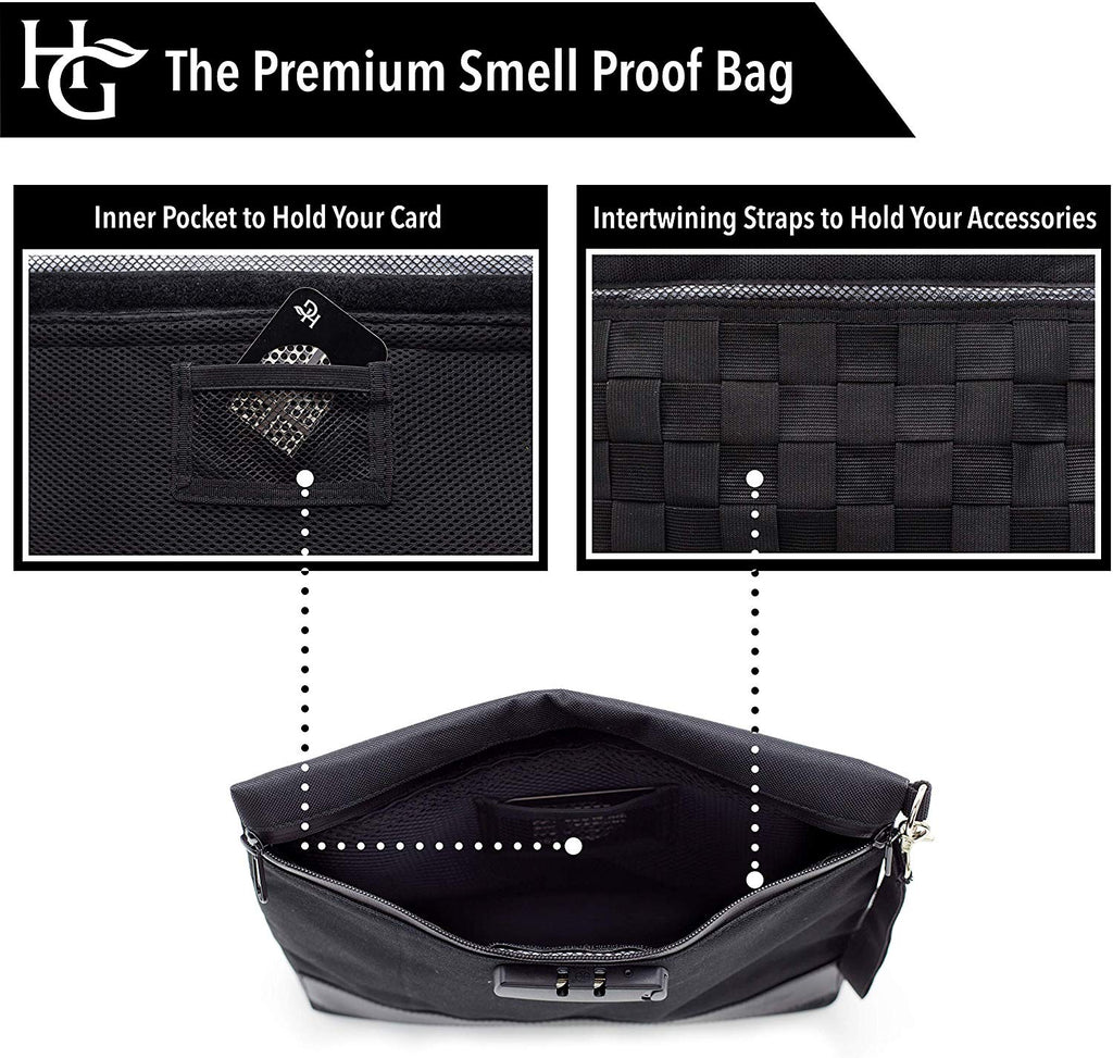 Herb Guard Smell Proof Bag with Built-in Combo Lock