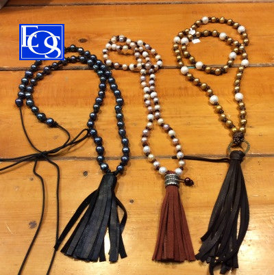 Elegant Pearl & Leather Lariat Necklaces - 2/29/20